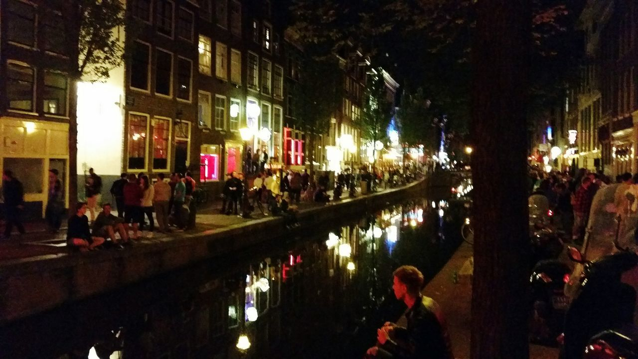 Amsterdam Red Light District Nightshot