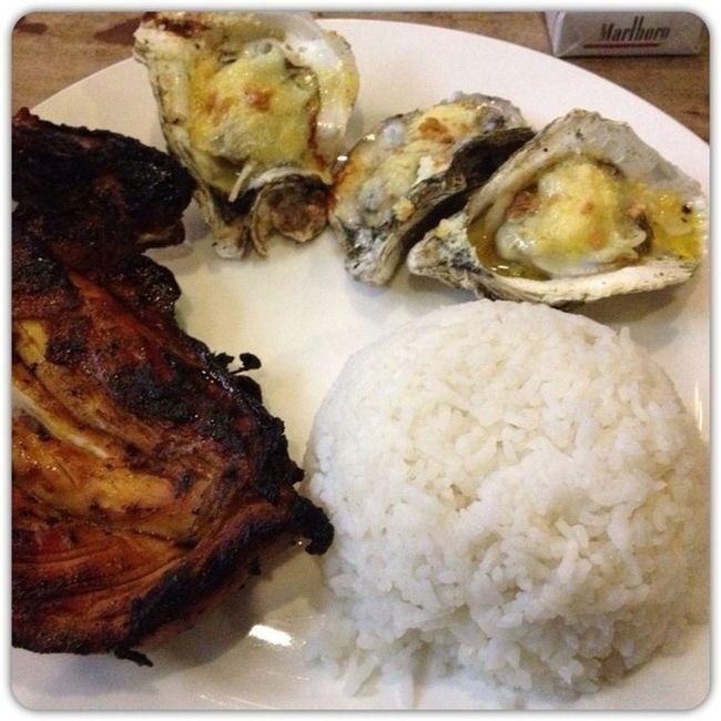 Dinner last night. Grillersoysterhouse Bakedtalaba Food Latepost