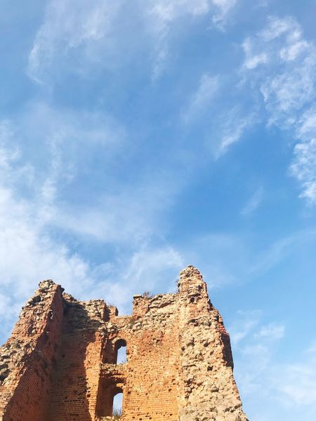 EyeEm Selects History Cloud - Sky Sky The Past Low Angle View Architecture Ancient Day Ancient Civilization Archaeology Old Ruin Built Structure Travel Destinations Tourism Sunlight No People Fort Outdoors Building Exterior Nature