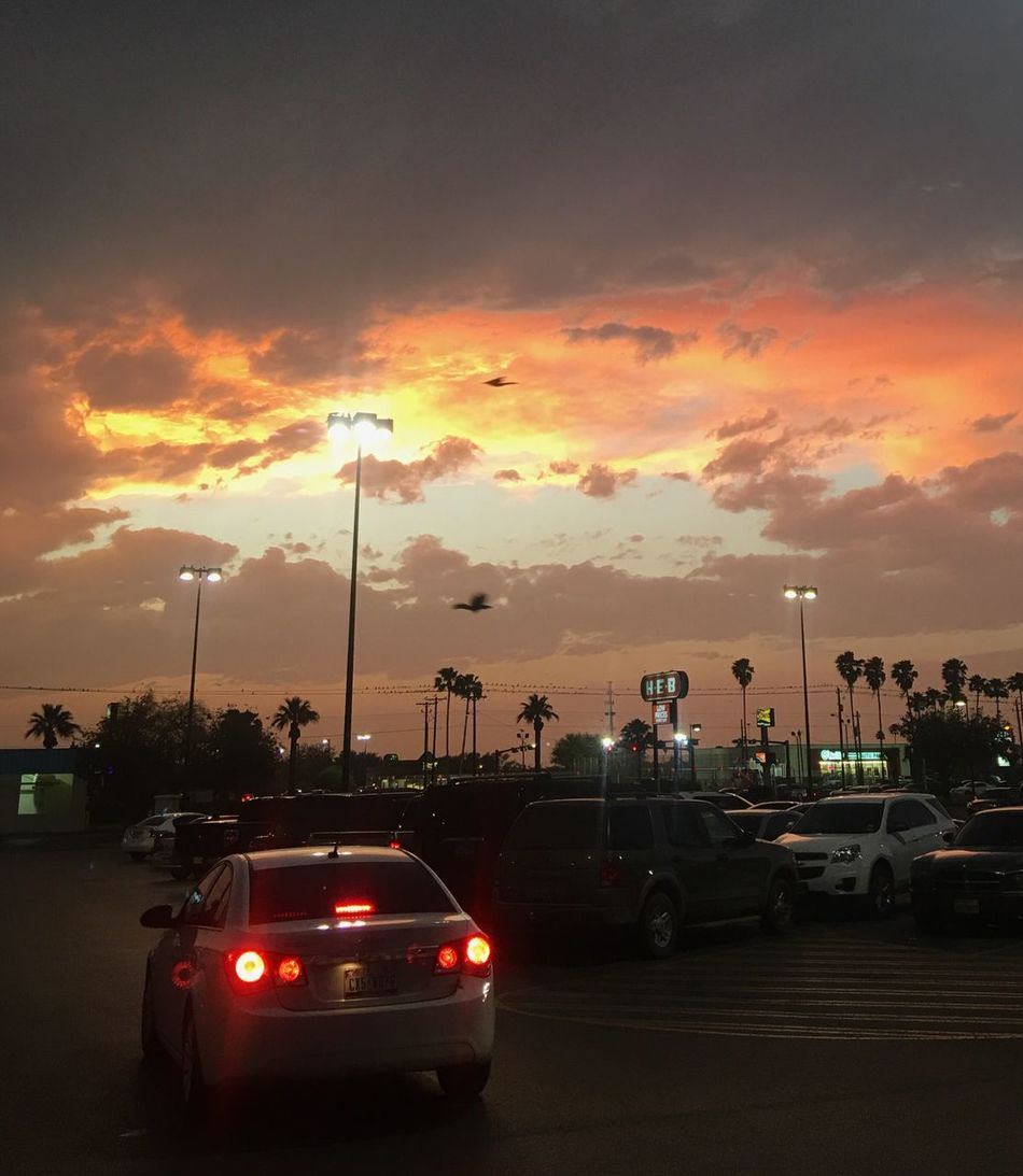 3-18-16. 2 of 3 storm clouds over Weslaco TX. Ip6s+ Iphonephotography Night Nightphotography Sunset Stormy Weather Clouds And Sky Outdoor Photography Nature Nature Photography Outdoors Shopping Parking Lot