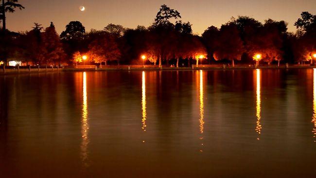 Nocturna Nature Dia De Relax Luces Incréible Larga Exposicion Noche Anochecer El Retiro