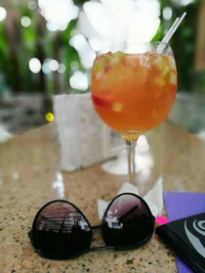 Cocktail Focus On Foreground Drinking Glass Alcohol Close-up Drink Hwaweip9 Refreshment Freshness Day Aperitif Apperitive Sangria Time Sangria! Cava