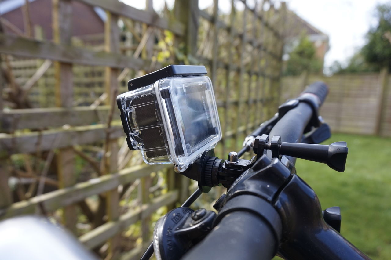 9936 Bike Camera Close-up Cycle Day Focus On Foreground Garden Handle Bar Handlebar No People Outdoors Push Bike Waterproof Camera