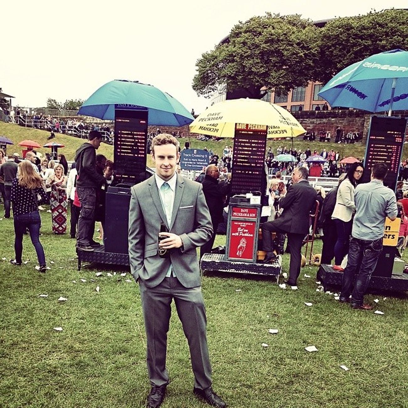 Placing the bets! ChesterRaces Gambling WinnersLuck Suits