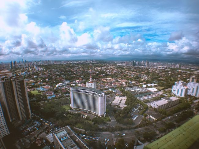 180 deg view My City Philippines Manila Up Above IPhoneography Top Perspective Top Of The World Building IPhone