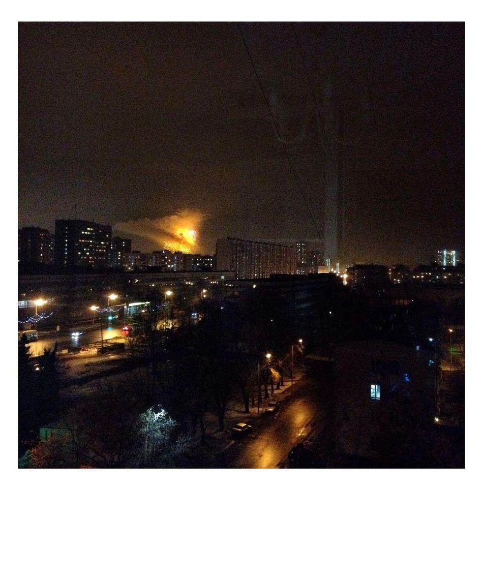 SZAO Moscow Night Lights Window