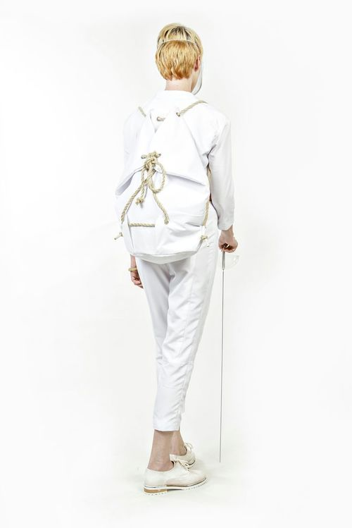 Selfmade Fotoshooting Fashion Design White Fencing Bag And one picture of the backside :)