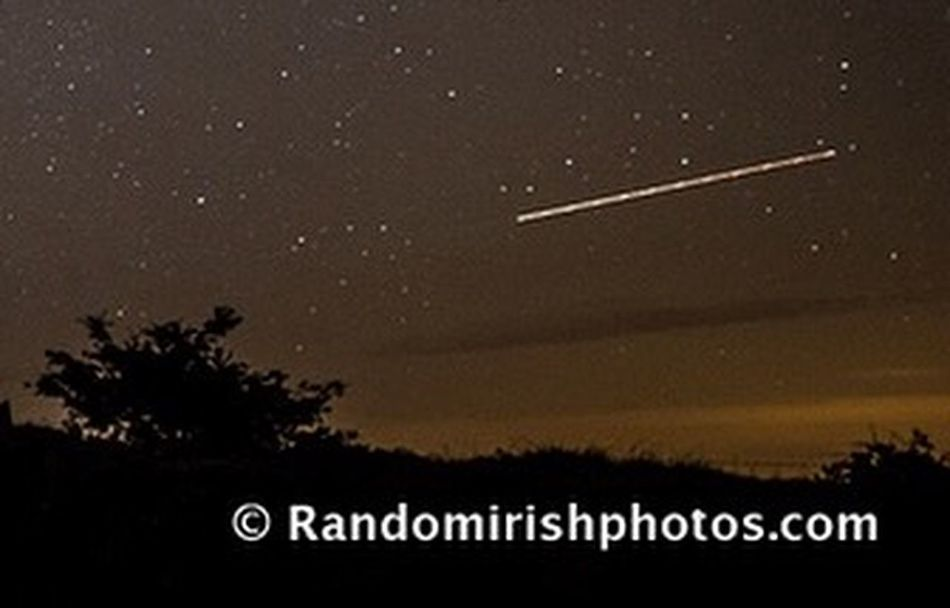 Perseid Shootingstar Meteor Discover Ireland