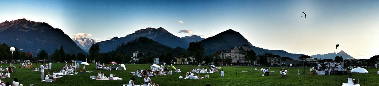Picnic Interlaken Switzerland Picnic_blanc Panorama Summer Views EyeEm Best Edits Jungfrau Cityscapes Eye4photography