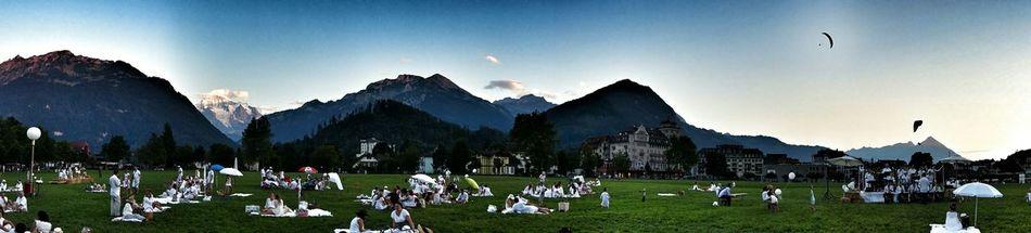 Picnic Interlaken Switzerland Picnic_blanc Panorama Summer Views EyeEm Best Edits Jungfrau Cityscapes Eye4photography