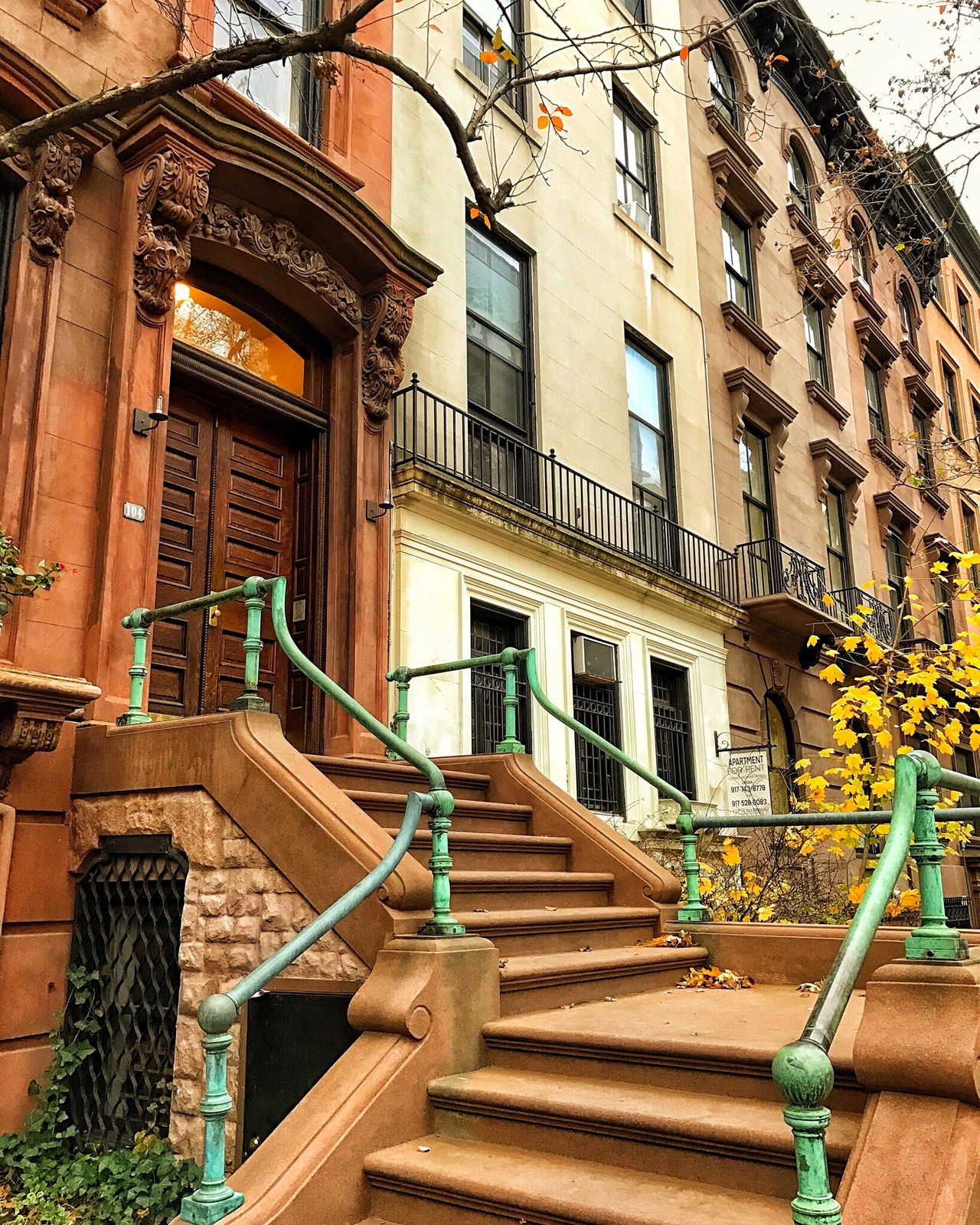 Brooklyn. Architecture Building Exterior Balcony Railing Built Structure Staircase Steps Steps And Staircases No People Apartment Outdoors Day