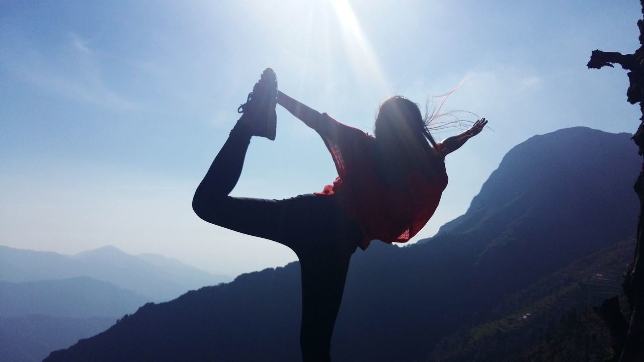 Beautiful stock photos of woman, Balance, Beauty In Nature, Day, Exercising