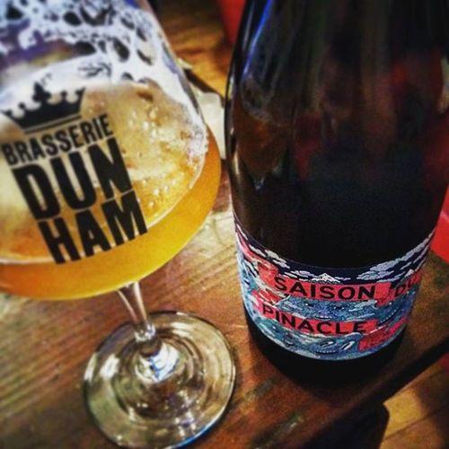 Tite saison du pinacle disponible à la Bièrothèque Homebrew Dunham Goodbeer Microbrasserie Beer Jessejacobs Saison Bierotheque Labierotheque