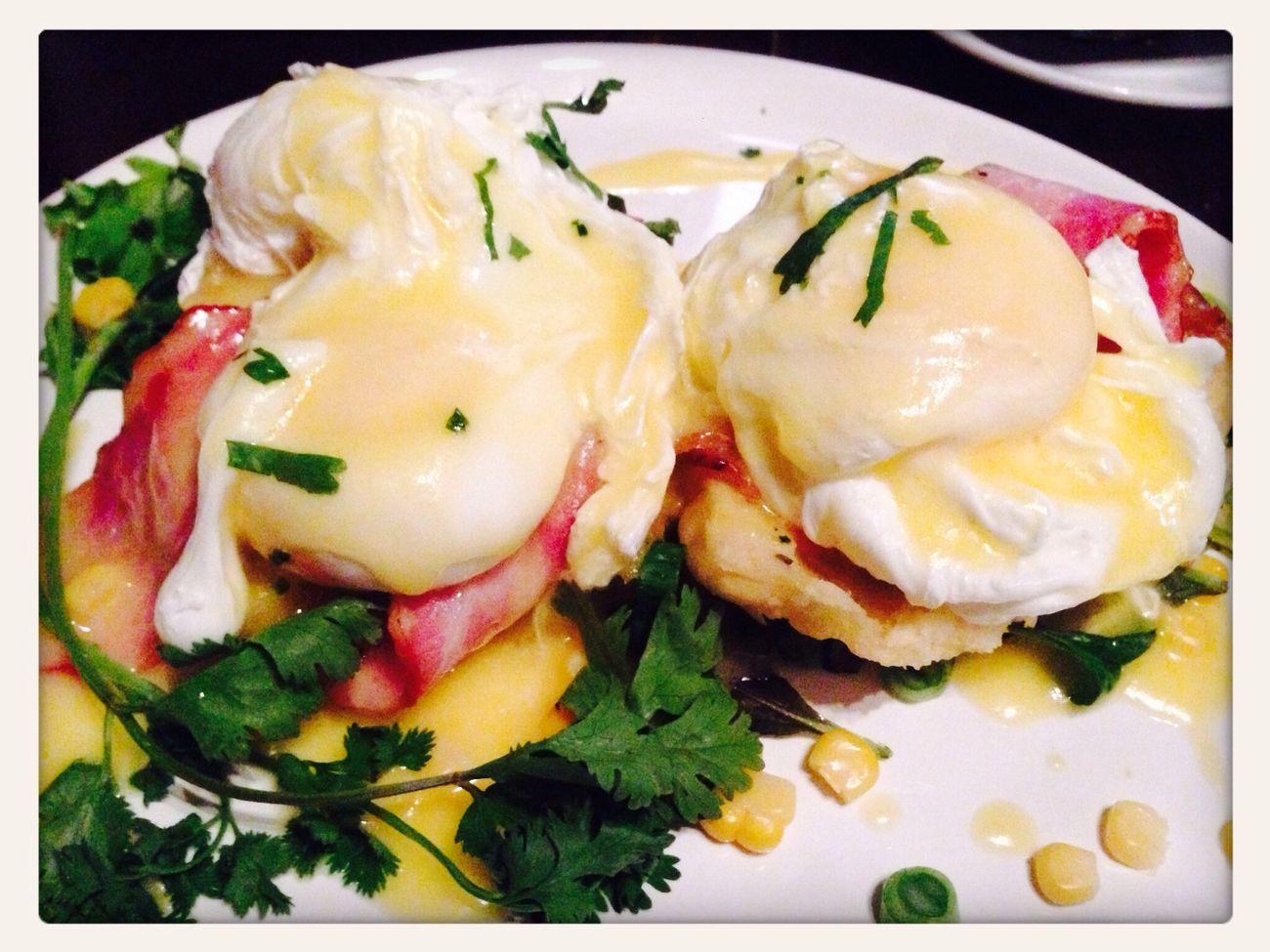 Badass Brunch. Breakfast Eggs Benedict Food Porn Brunch