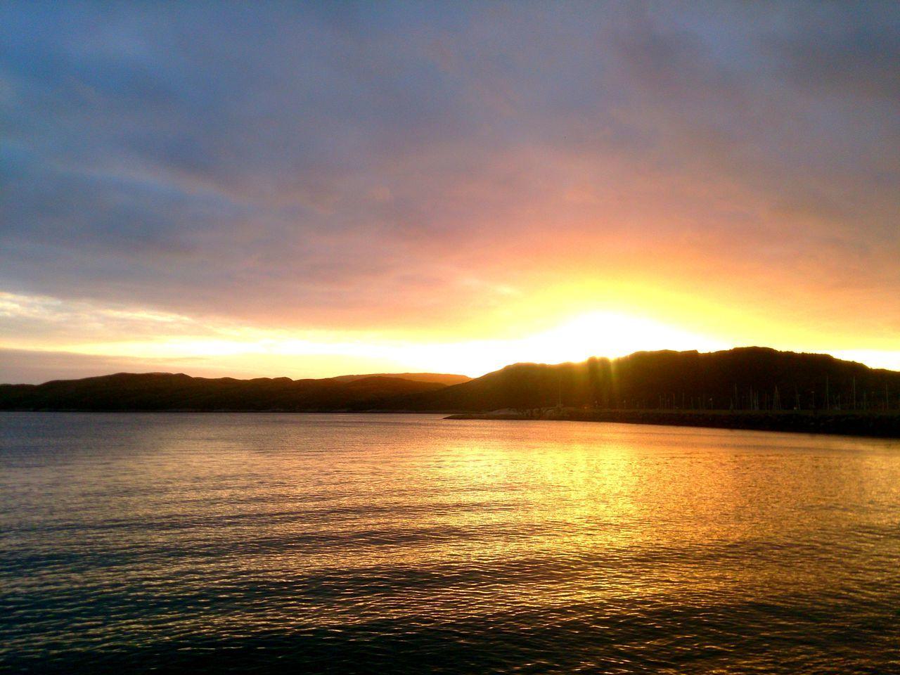2016 Bodø Dramatic Sky Midnattsol Midtsommer Mitternachtssonne Mittsommer Moloveien Nordland Nordnorge Nordnorwegen Norge Norway Norwegen SanktHans Sun Sunset Water