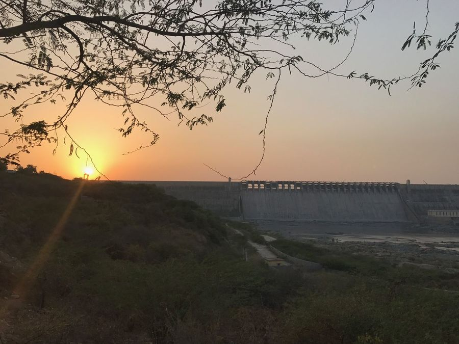 Beauty In Nature Branch Day Horizon Over Water Landscape Nagarjuna Sagar Nature No People Outdoors Scenics Sea Sky Sunset Tranquility Travel Destinations Tree Water First Eyeem Photo