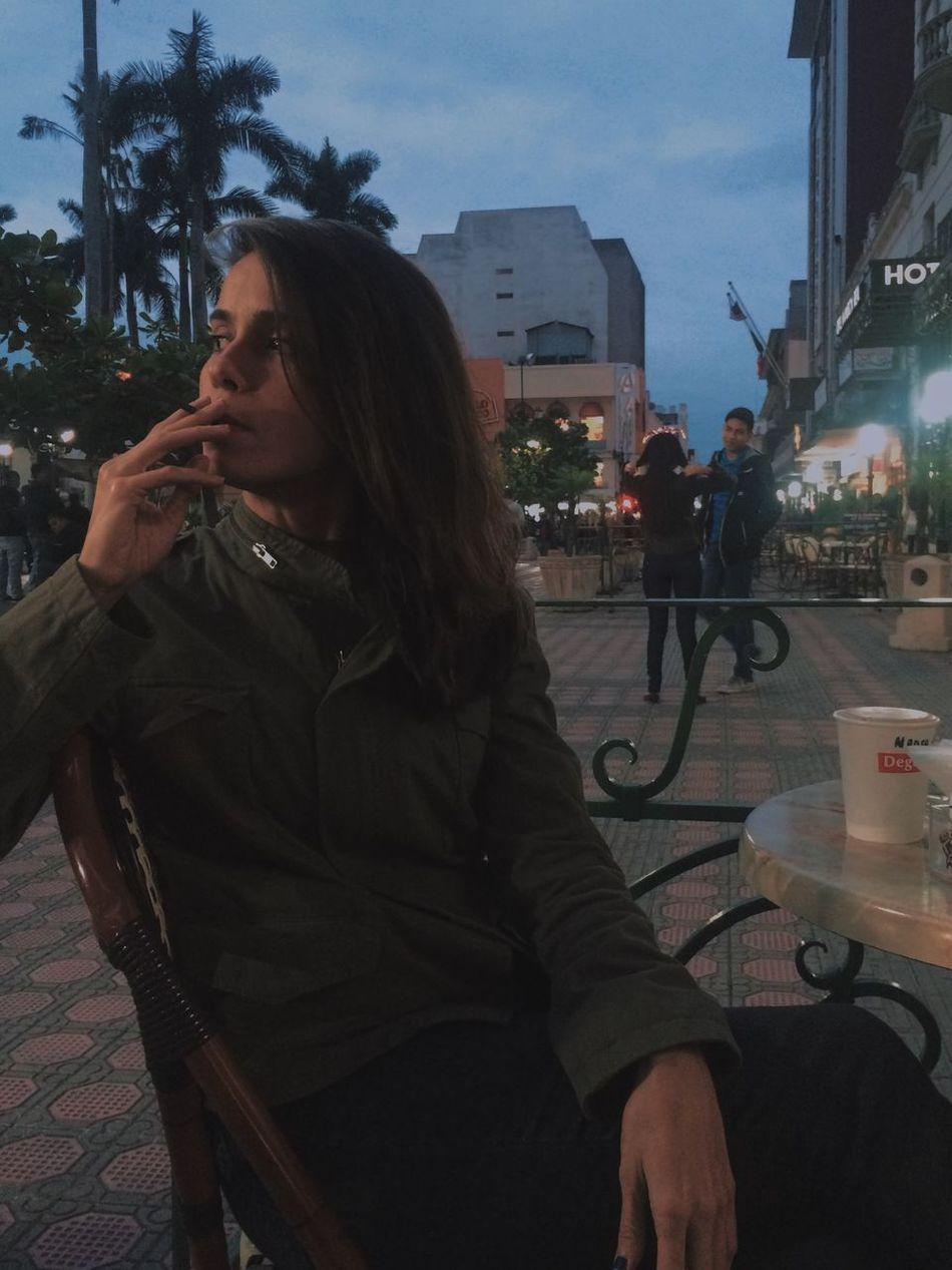 Beautiful Cigarette  City Girl Outdoors People Smoke Smoking Young Adult Young Women Tampico