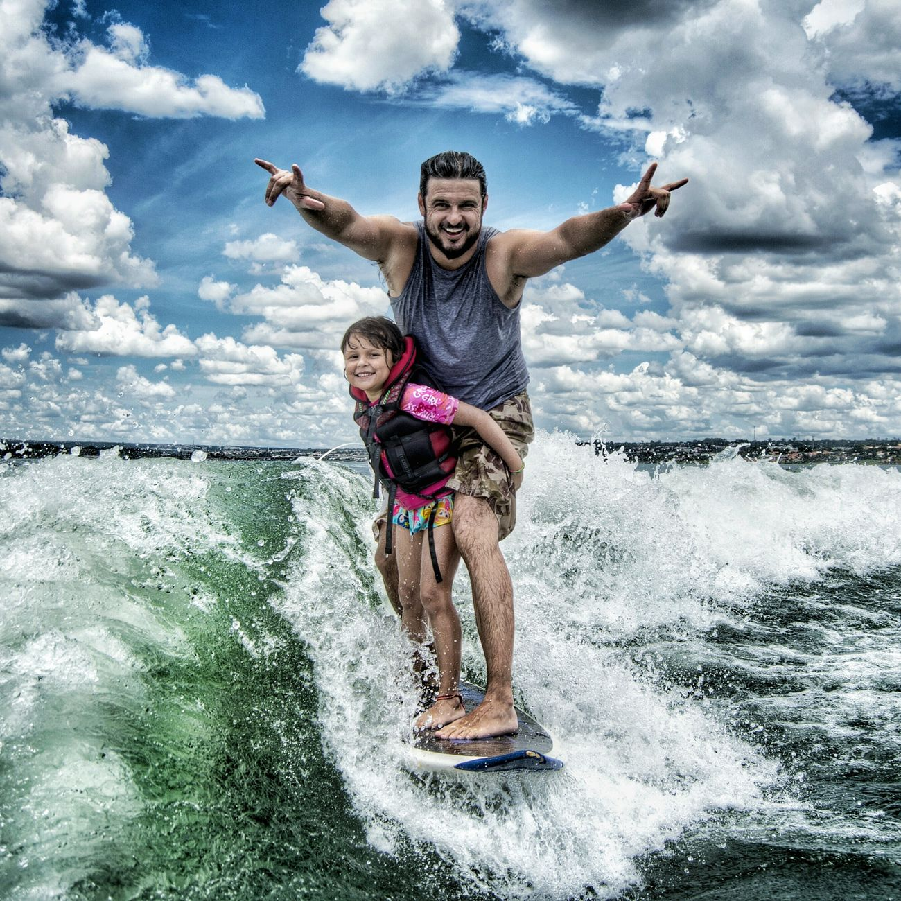 Vacations Motion Cloud - Sky Looking At Camera Child Summer Leisure Activity Travel Destinations Multi Colored Outdoors Fun Portrait People Cheerful Water Cloudscape Sport One Person Sky Brazil Brasília Lago Paranoa Wakesurf Wakesurfing Surfing