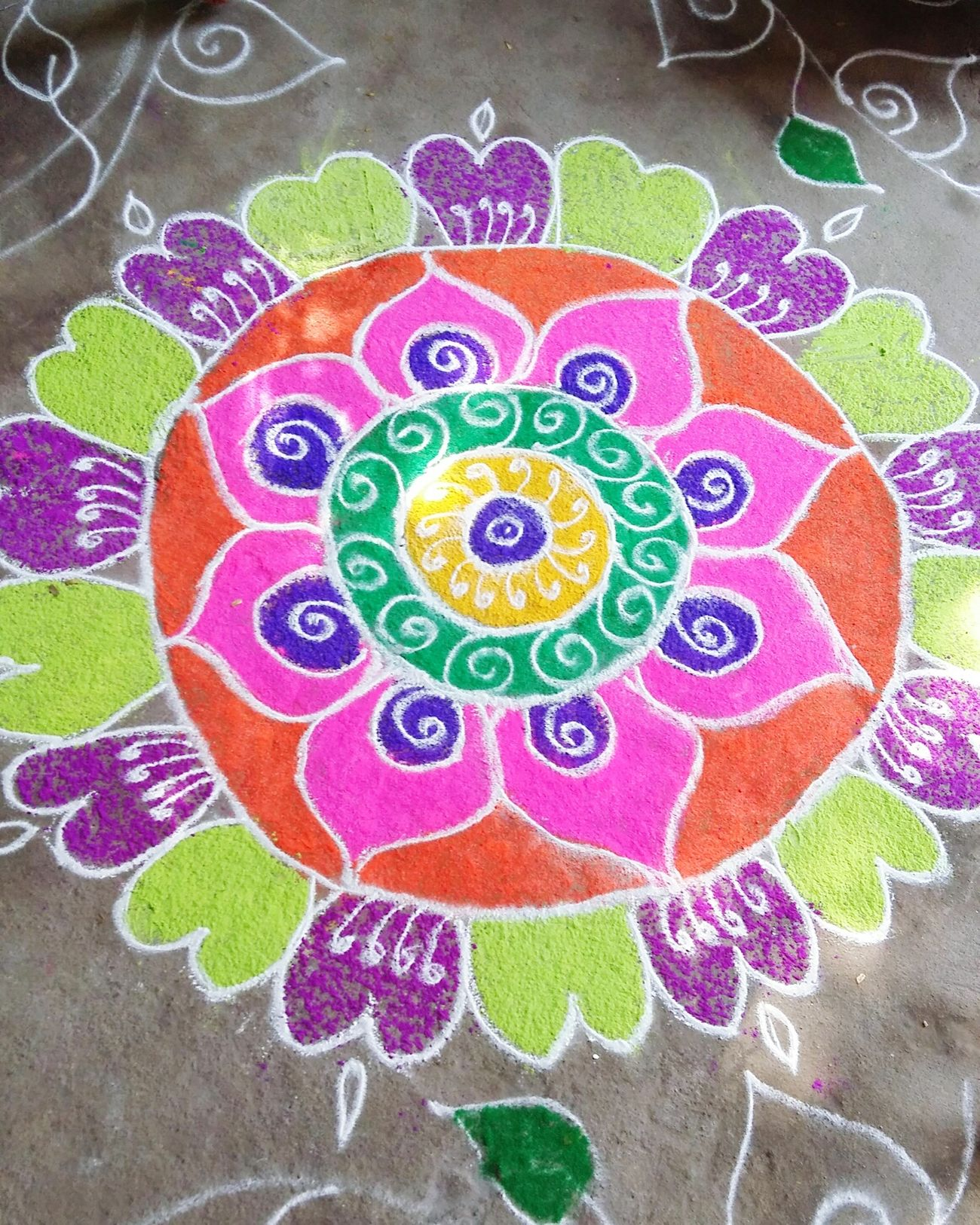 Festival around the cornor Sankranthi Colorful Colorful Rangoli. Hyderabad,India