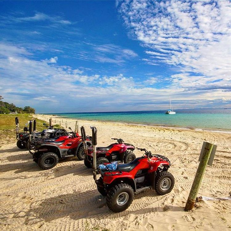 Most fun I've ever had on any island Moretonisland Quads Quadbiking Quadbikes Islandadventure Island Australia Sand Beach