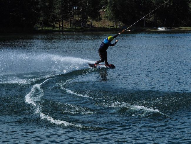Splash One Person Real People Full Length Balance Leisure Activity Water Men Surfing Day Adventure Sport Extreme Sports Outdoors Motion Nature Lifestyles Skill  Paddleboarding Adult People