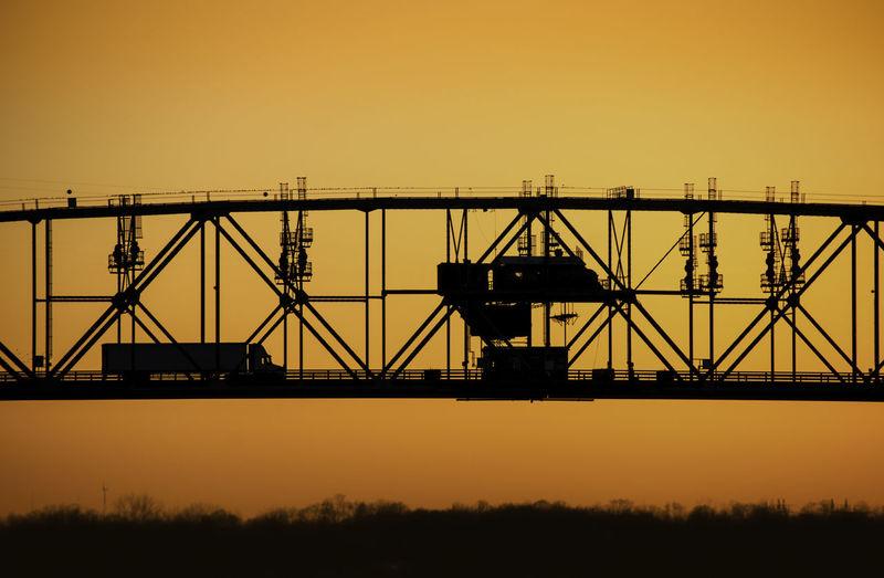 Bridge Burlington Bristol Bridg Burlington NJ No People Outdoors Silhouette Sky Sunset Transportation