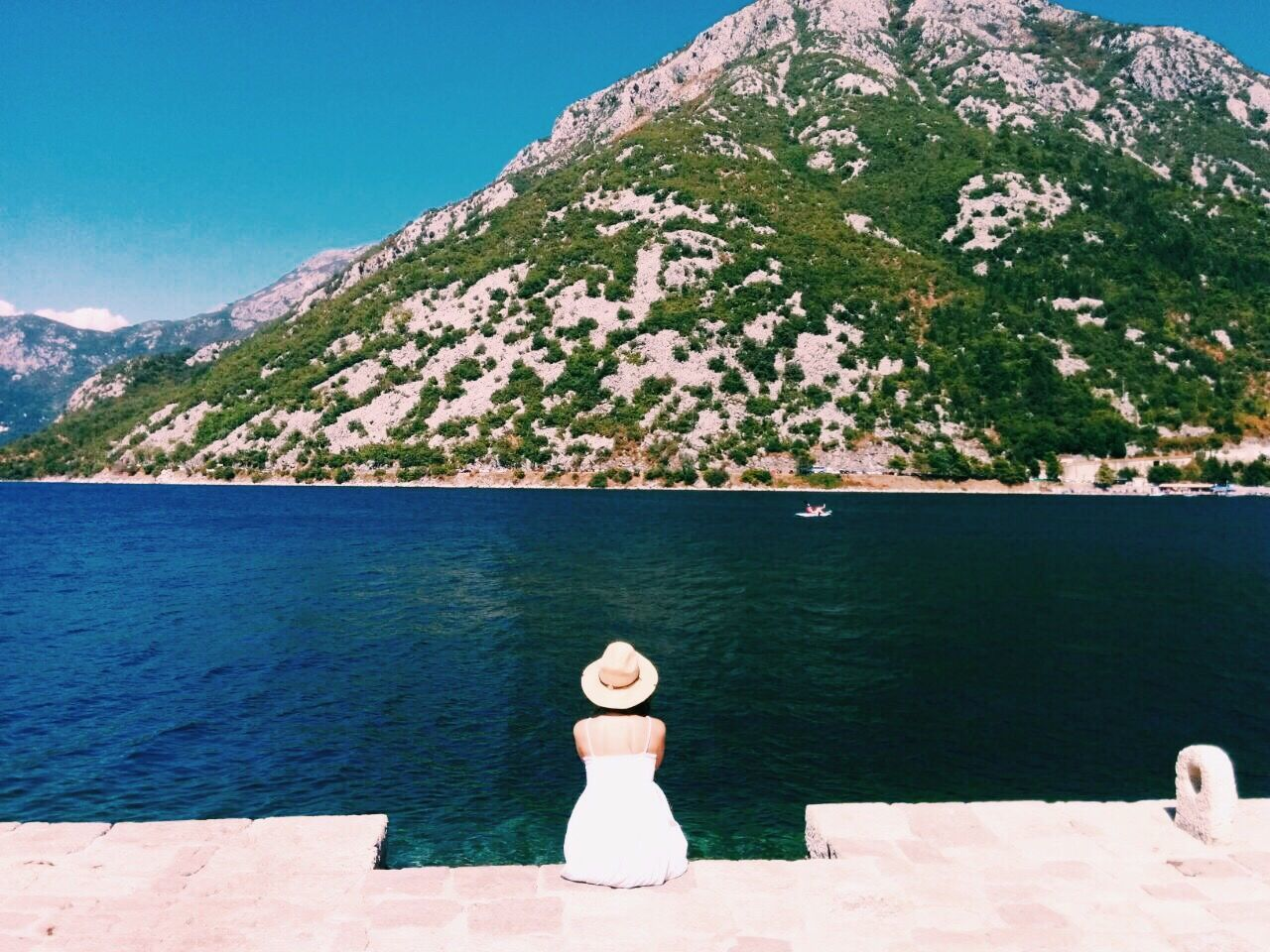 Summer Day Mountain Nature Water Beauty In Nature Sky Girl Live For The Story The Great Outdoors - 2017 EyeEm Awards Aroundtheworld Treveling Live For The Story