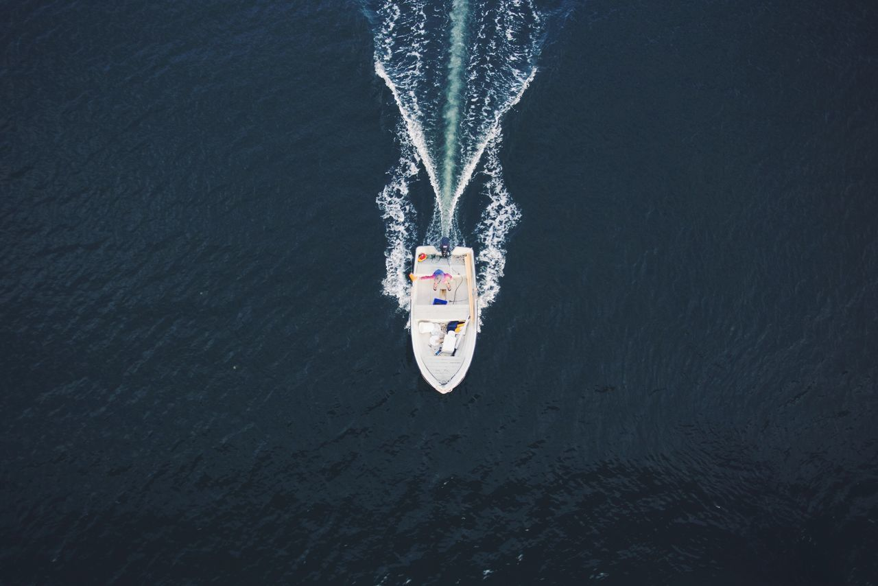 Heading south. boat Sweden gothenburg fishing ocean sea boats From above minimalism Capture The Moment My Best Photo 2015 The Great Outdoors - 2016 EyeEm Awards On The Way