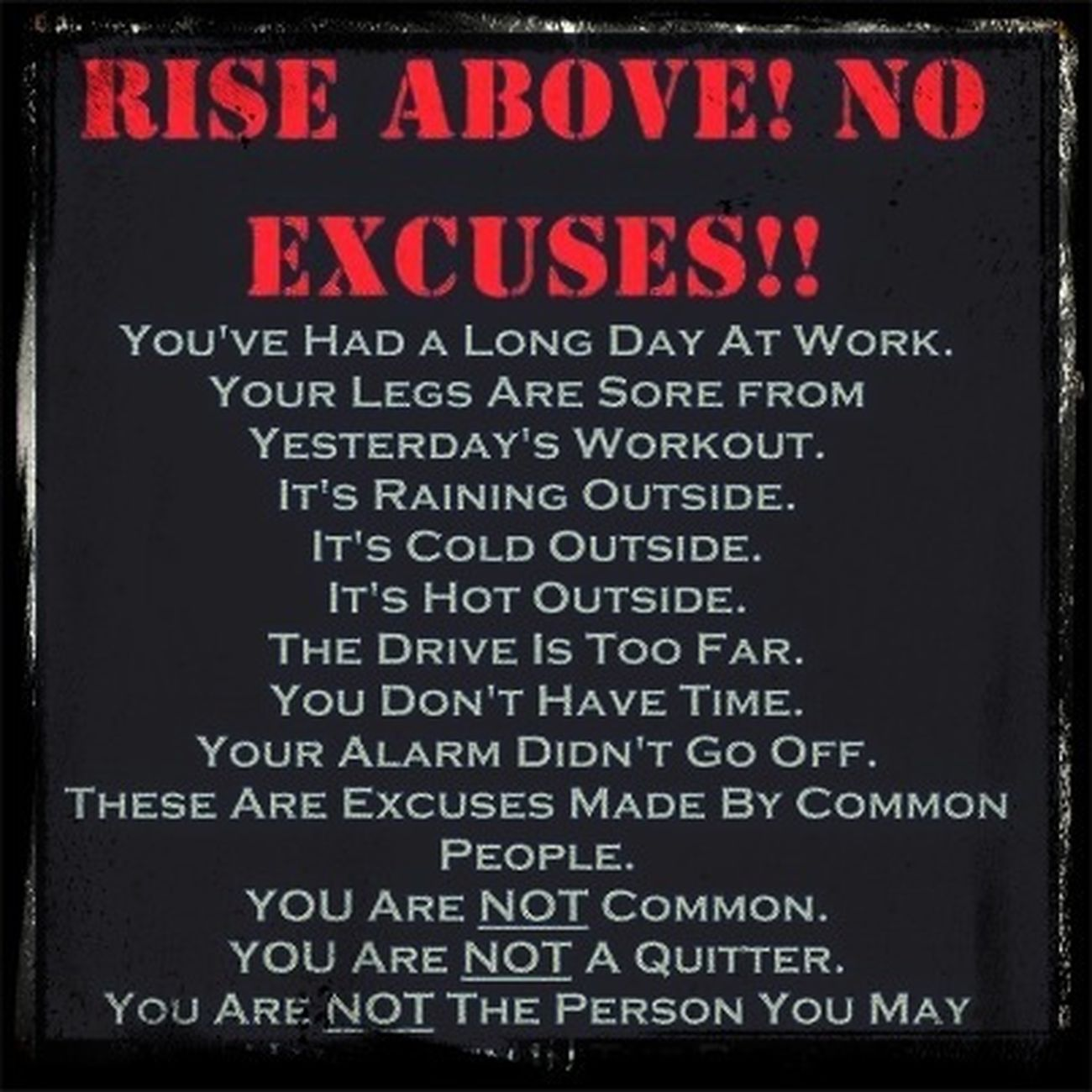 Training Excuses