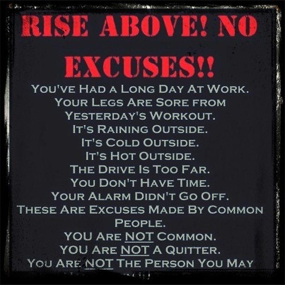 Training Excuses