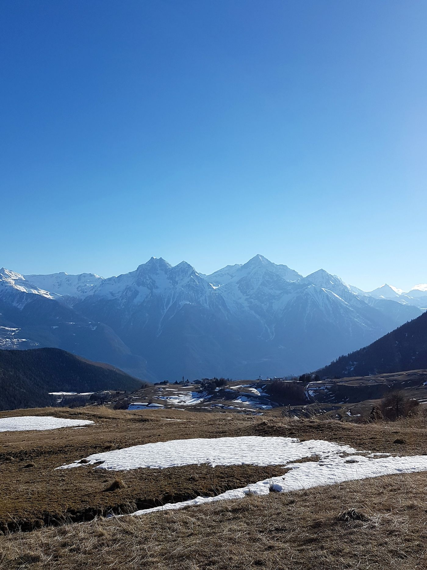 Imposing beauty. Blue Mountain Snow Landscape Outdoors No People Nature Alps Nature Photography Offroad Into The Wild Clear Sky Altitude High Mountain Road