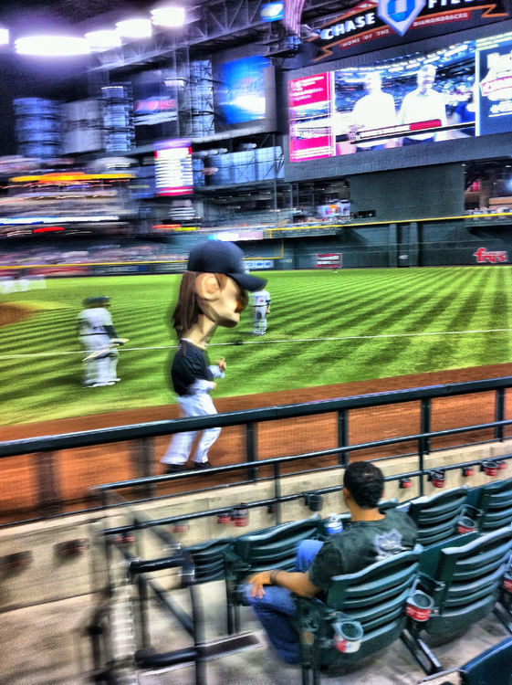 Baseball at Chase Field, Phoenix, AZ by Vicki Donk