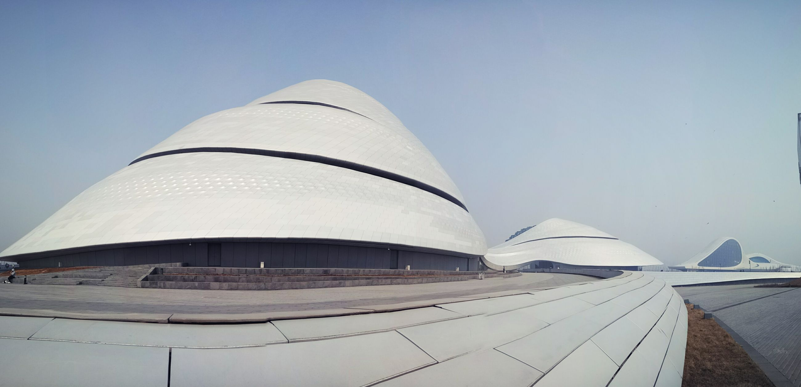 architecture, built structure, clear sky, building exterior, low angle view, no people, outdoors, day, place of worship, sky