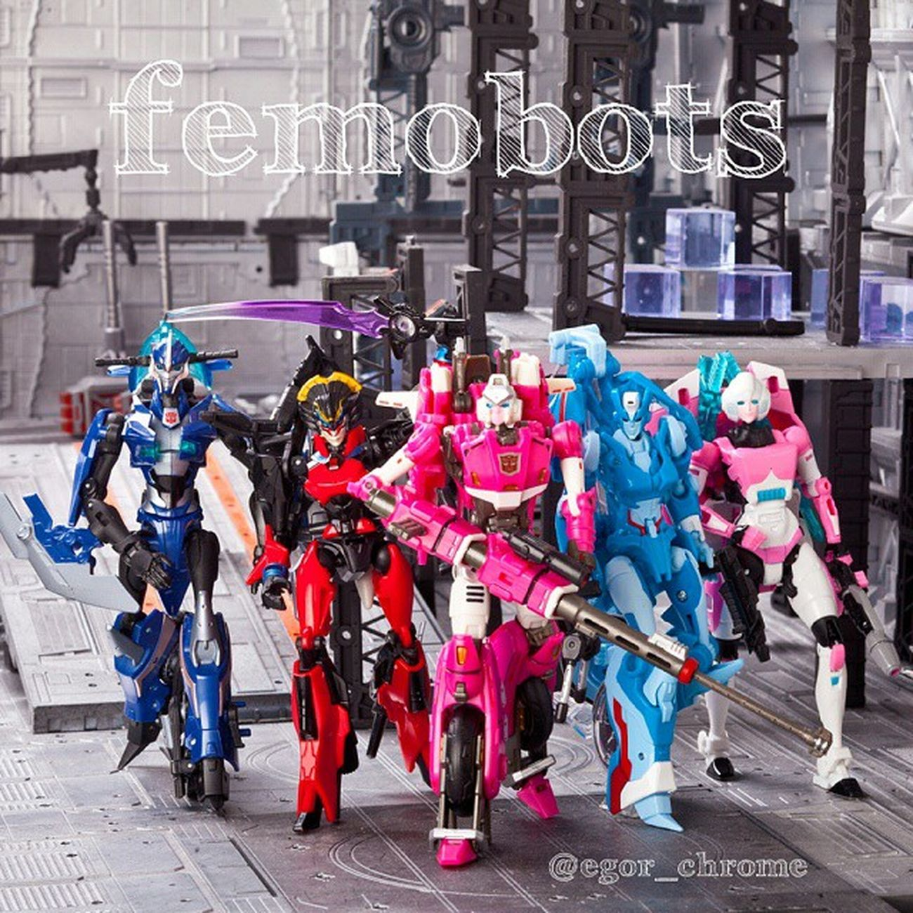 Women's team: Arcee PerfectEffect & Prime & Generation, Chromia, Windblade Women Womensteam Femobot Arcee Chromia Windblade Femobot Perfecteffect Transformersprime