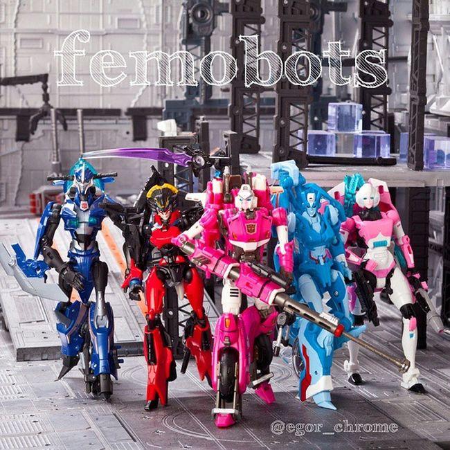 Women's team: Arcee PerfectEffect & Prime & Generation, Chromia, Windblade Women Womensteam Femobot Arcee Chromia Windblade Femobot Perfecteffect Transformersprime