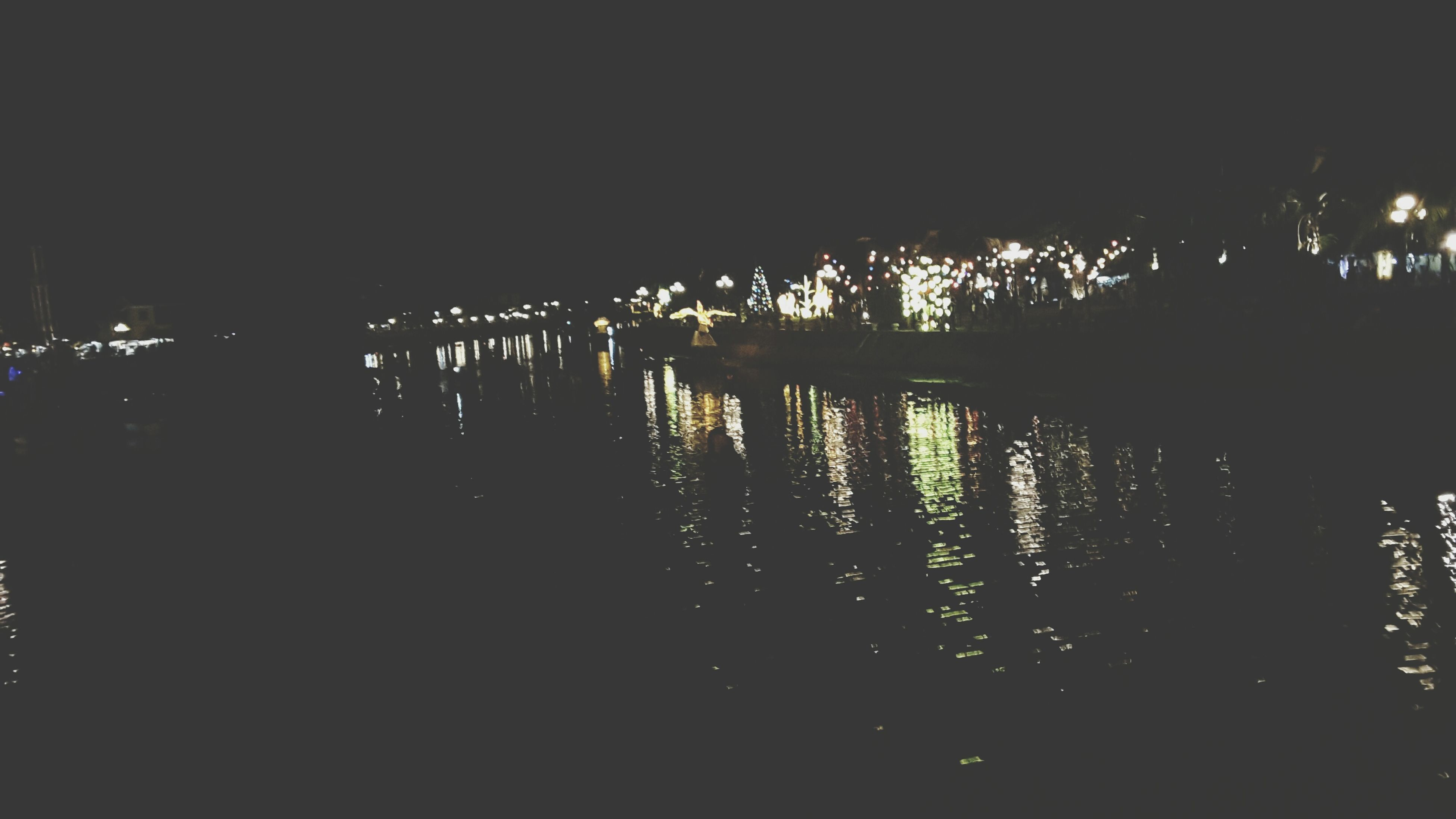 night, reflection, dark, water, illuminated, silhouette, no people, outdoors, nature, beauty in nature
