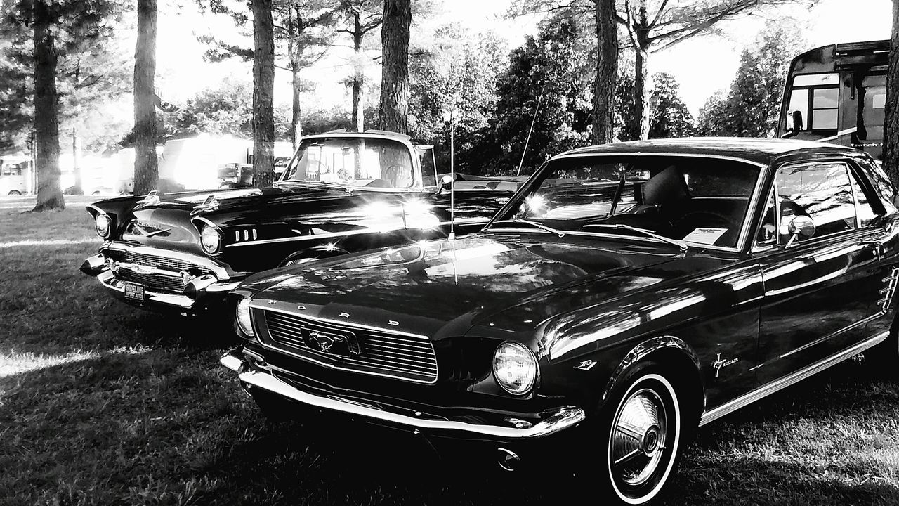 Classic Cars Vintage Cars Black And White Arkansas Car Show Beautiful Antique Check This Out Ford Mustang Chevy Bel Air Taken With Phone