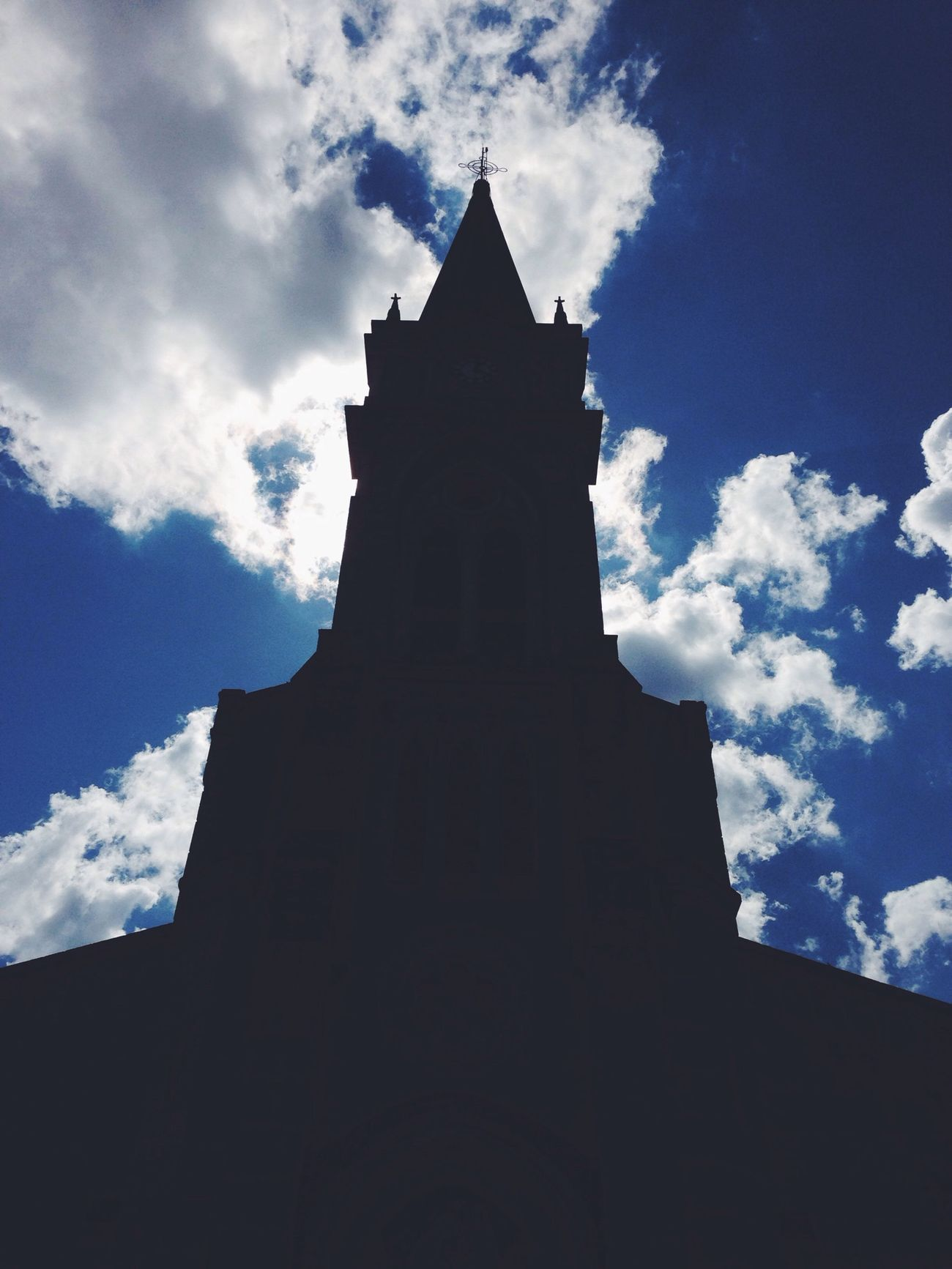 Architecture Silhouette Blue Sky Church