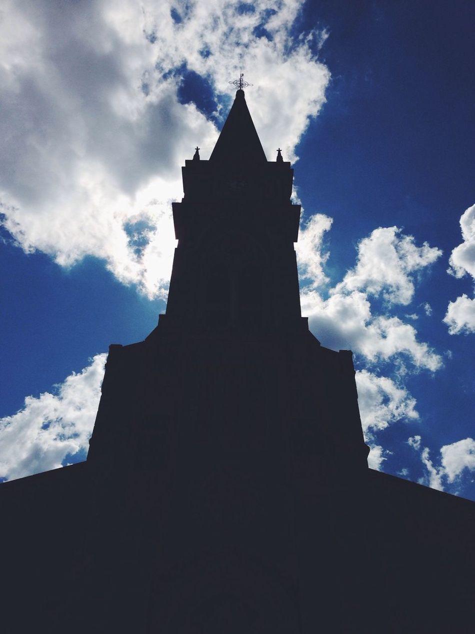Architecture Silhouette Blue Sky Church