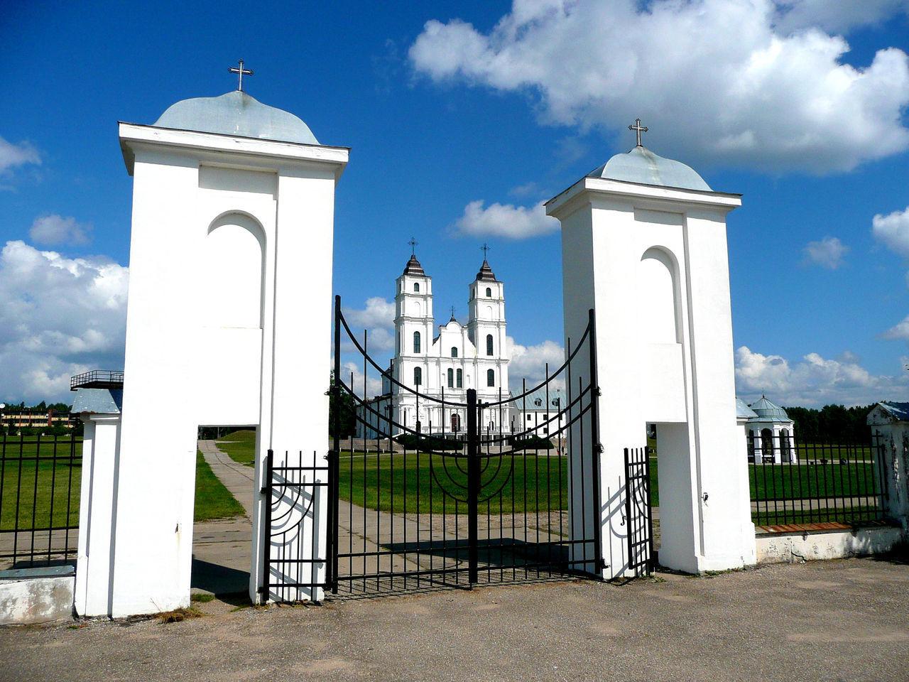 Latgale Latvija Latvia Aglonas Bazilika Aglona Latvia Riga Entrance Gate Catholic Church Cathedrale Carhedral Pilgrims Pilgrimage Pilgrimage Church Pilgern Pilgerschaft Pilgergang Pilgerweg Pilger
