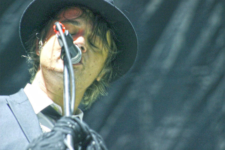 Pete Doherty during The Libertines concert in Moscow. June, 2015 #ICONICMARK #music #petedoherty Close-up Confidence  Contemplation Depth Of Field Fashion Focus On Foreground Front View Head And Shoulders Hobbies Holding Libertines Lifestyles Looking At Camera Part Of Portrait Real People Selective Focus Serious Young Adult Young Men
