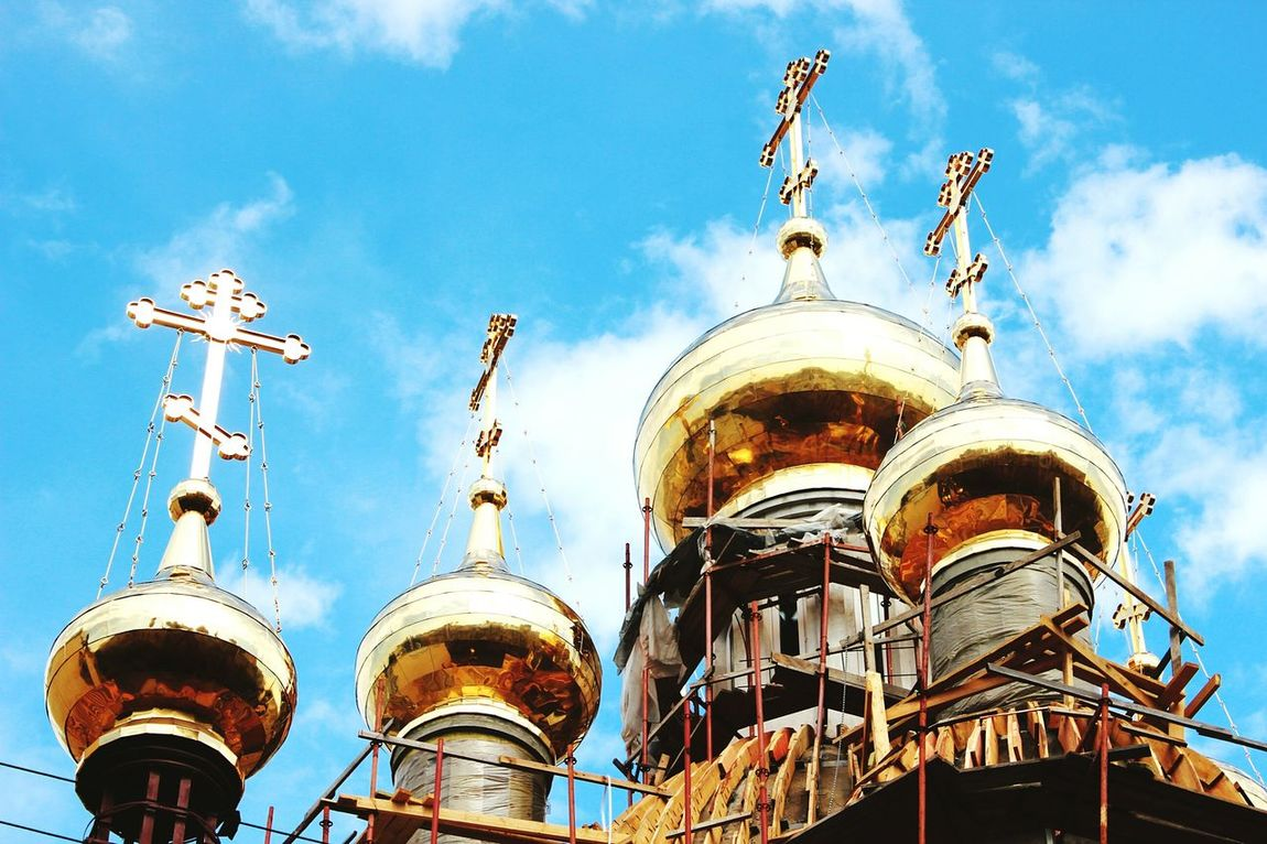 Buildings & Sky Church & Gold Sankt-Petersburg Sunny Light Godhouse Your Design Story Gold Dome