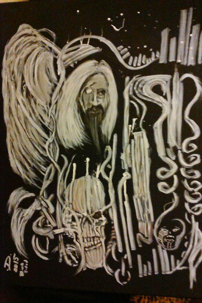 AfterLifeComesLife Ink Painting Artist ArtWork Selftaughtartist BLINDsided STUDio Art, Drawing, Creativity Art Gallery Halloween_Collection