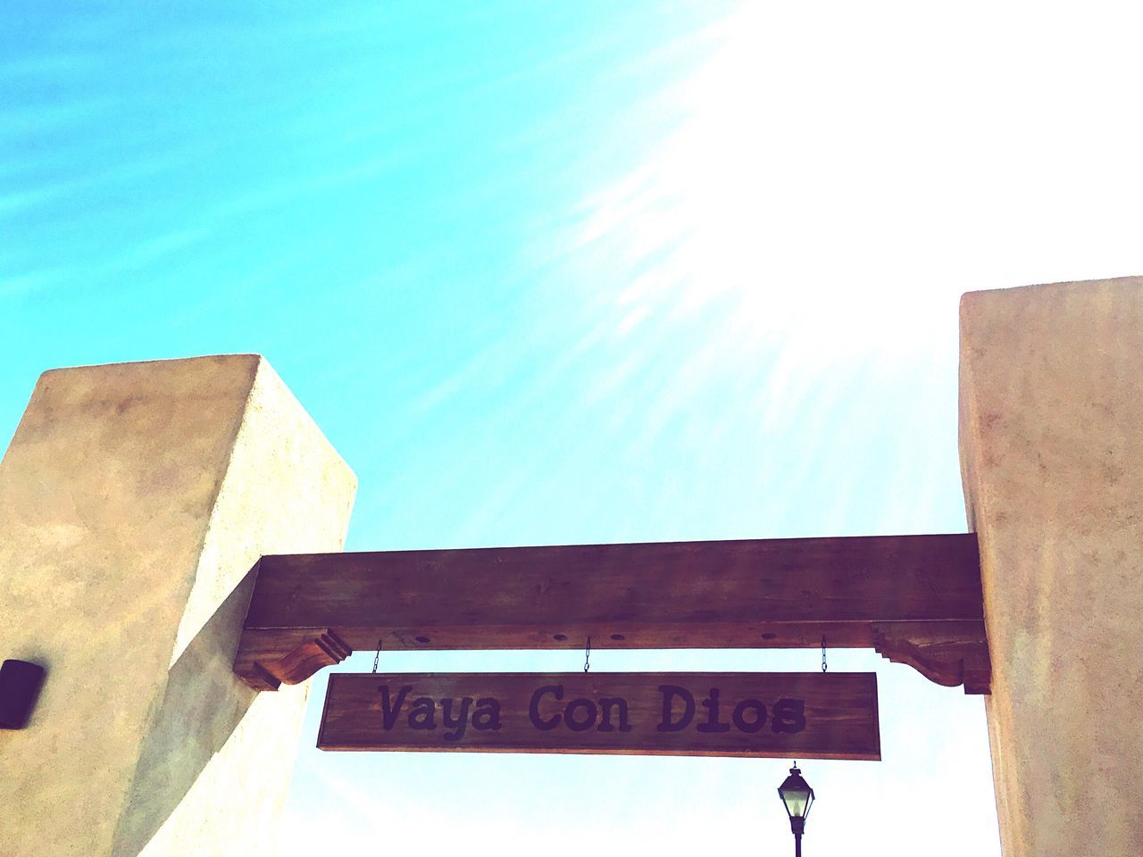 Go with God. Vaya Con Dios Sign Signs Signage SignSignEverywhereASign Random Spanish Phrase Spanish New Mexico, USA Albuquerque Albuquerque New Mexico