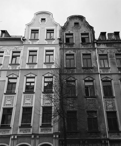Buildings Black And White Outside Monochrome