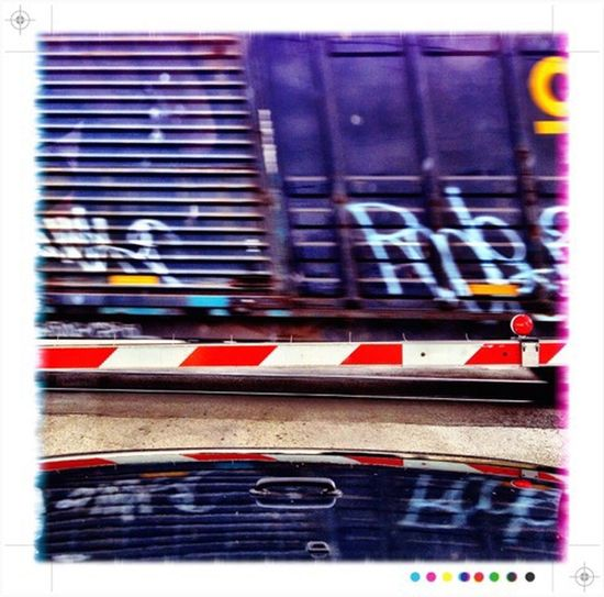 Hanging Out IPhoneography Waiting Train Process Project Jeep Life Jeep Blue Graffiti