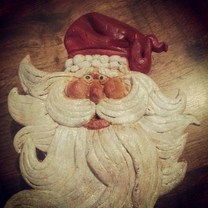 Saltdough Santa made for Christmas!