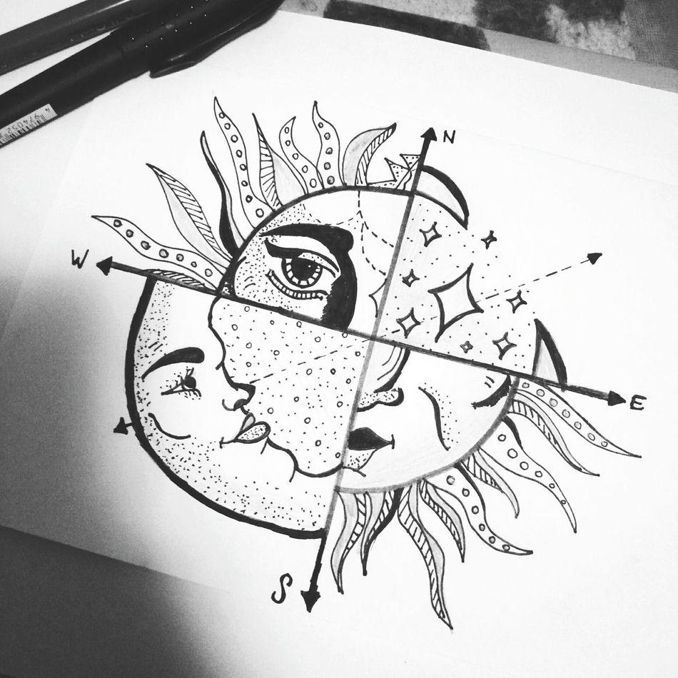 Dessin Dessin :3 Moonandsun Stellar Boredsodrawing Lovetheresult Black&grey
