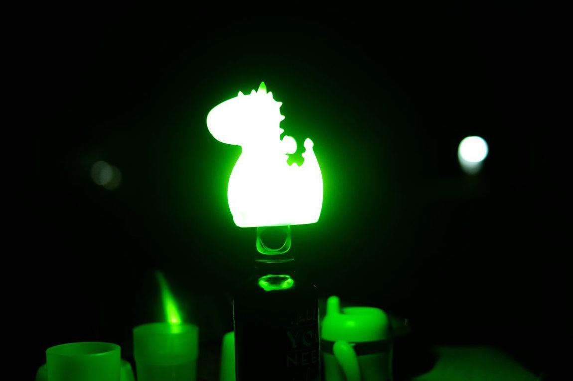 Camping night Illuminated Night Lighting Equipment Green Color No People Orochi Smoko