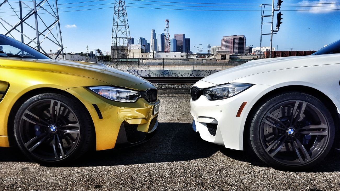 Bmw M4LIFE Turbo DTLA Skyline BMW MEET MINERAL WHITE BMW Muster Yellow BMW F82